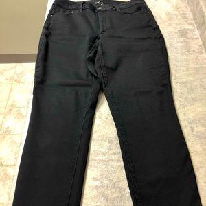 Deep rich black miss pouredinblue jeans